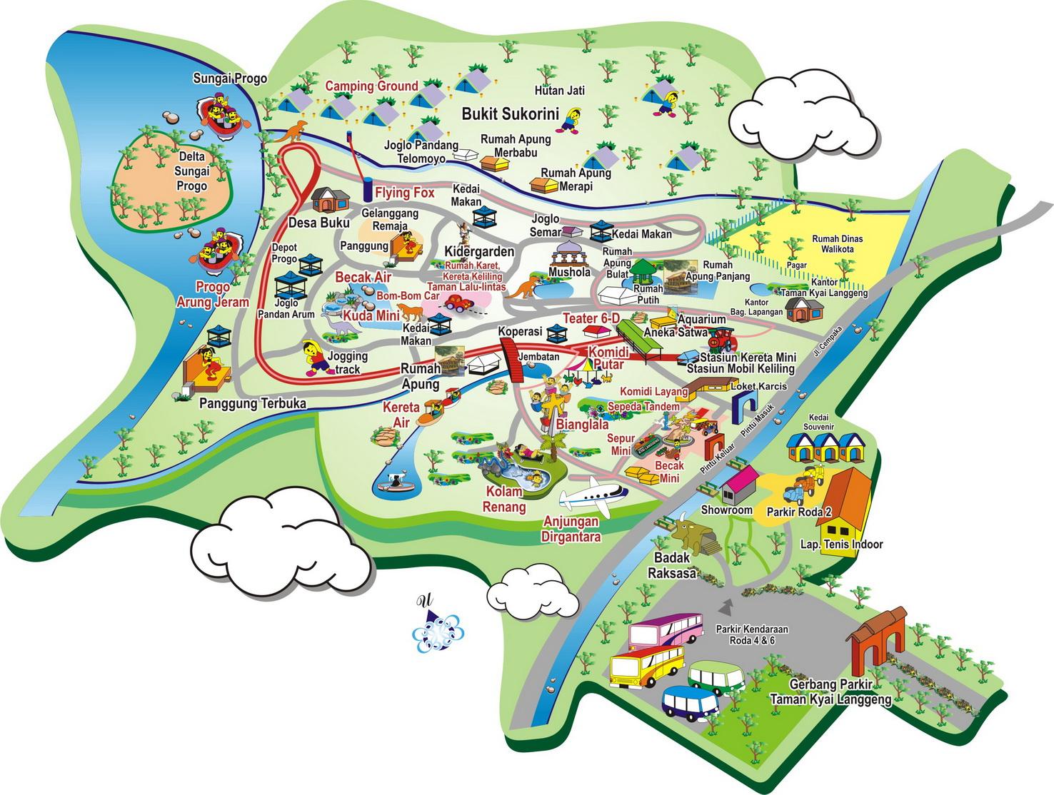 Peta Area Taman Kyai Langgeng