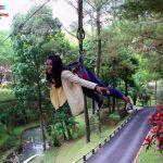 Flying Fox Selfie Supergirl Obyek Wisata Taman Kyai Langgeng