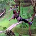 Flying Fox Selfie Obyek Wisata Taman Kyai Langgeng