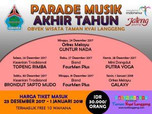 Parade Musik Akhir Tahun 2017 Taman Kyai Langgeng