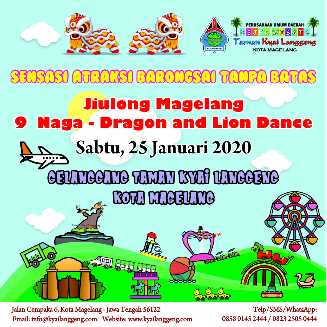 Barongsai Promo Imlek 2020 - Taman Kyai Langgeng Kota Magelang